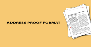 Address Proof Format in India