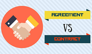 Difference between agreement and contract is that