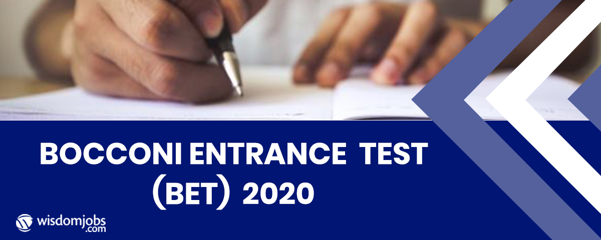 Bocconi Entrance Test (BET) – 2020