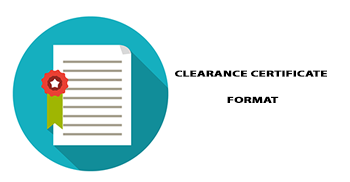 CLEARANCE CERTIFICATE FORMAT