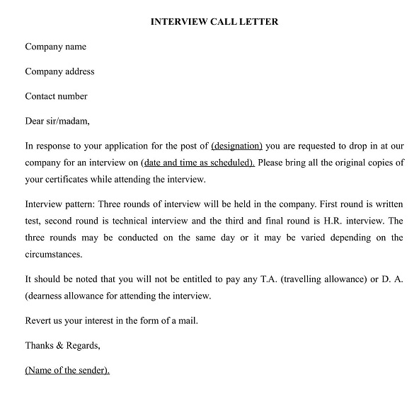 What is Interview Call Letter? | Wisdom Jobs India