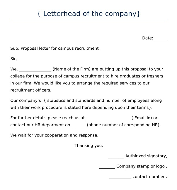 proposal letter format for recruitment