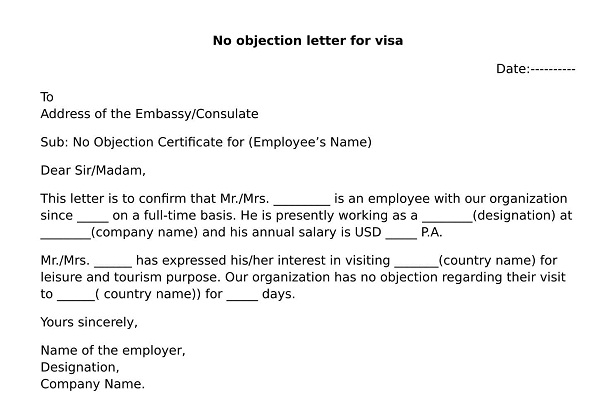 no objection letter from college what is noc letter format wisdomjobs 23850 | no objection letter from husband 2
