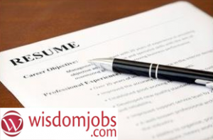 Resume services by wisdomjobs.com