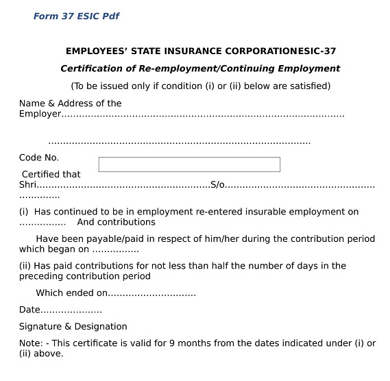 free download esic form no 37  WHAT IS ESI FORM 9? | Wisdom Jobs India