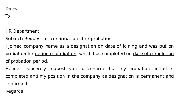 What is Request Letter for Confirmation after Probation ...