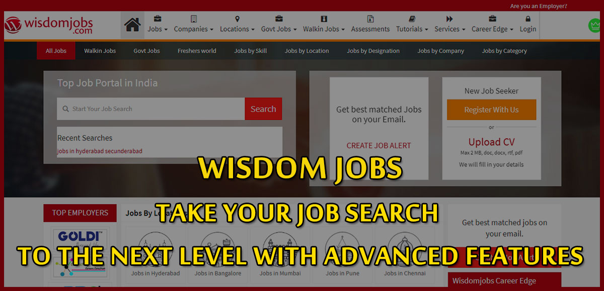 Wisdom jobs-Take your job search to the next level with advanced features