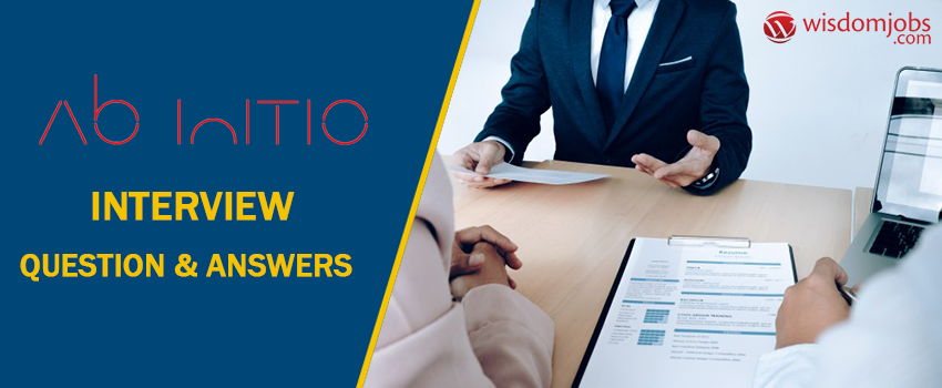 Abinitio Interview Questions & Answers