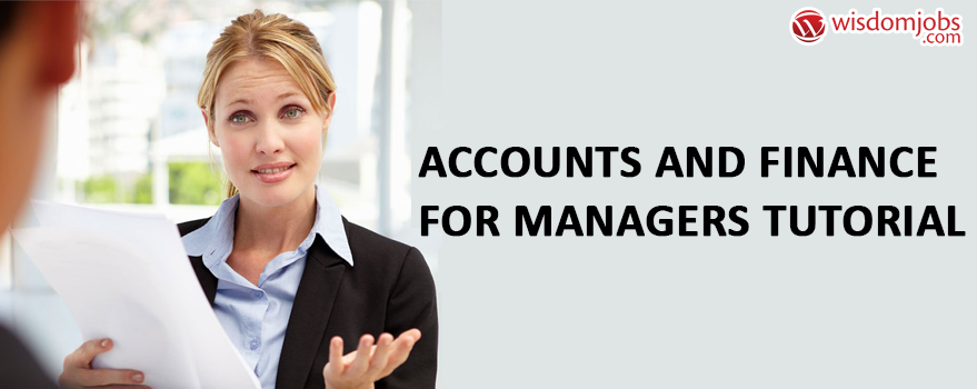Accounts and Finance for Managers Tutorial