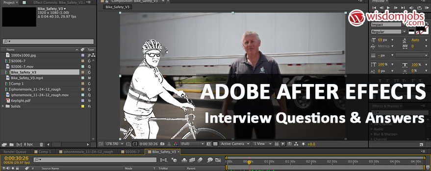 Adobe After Effects Interview Questions & Answers