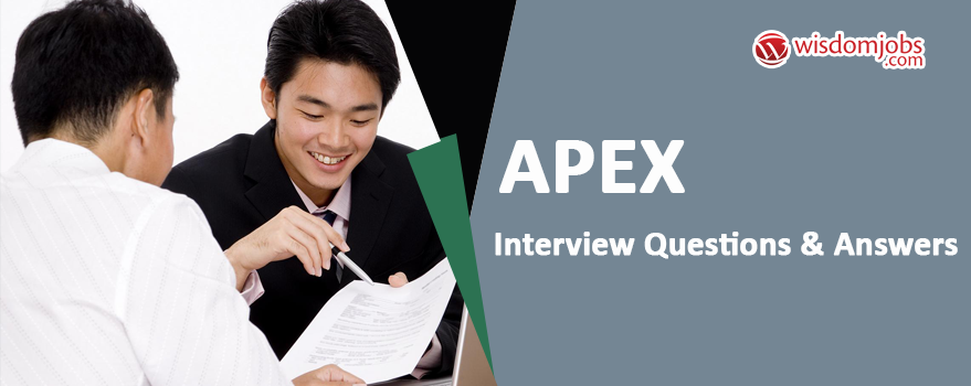 Apex Interview Questions & Answers