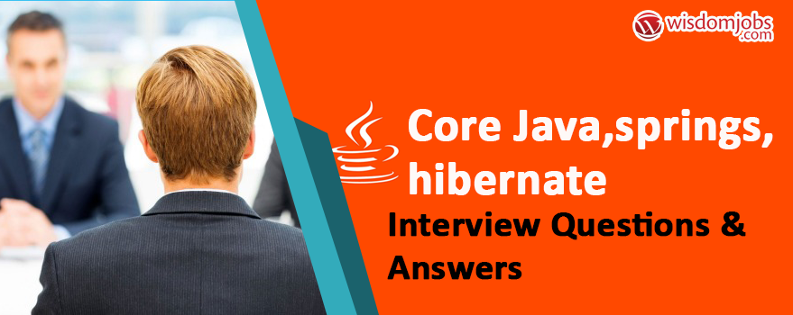 Core java,springs,Hibernate Interview Questions & Answers