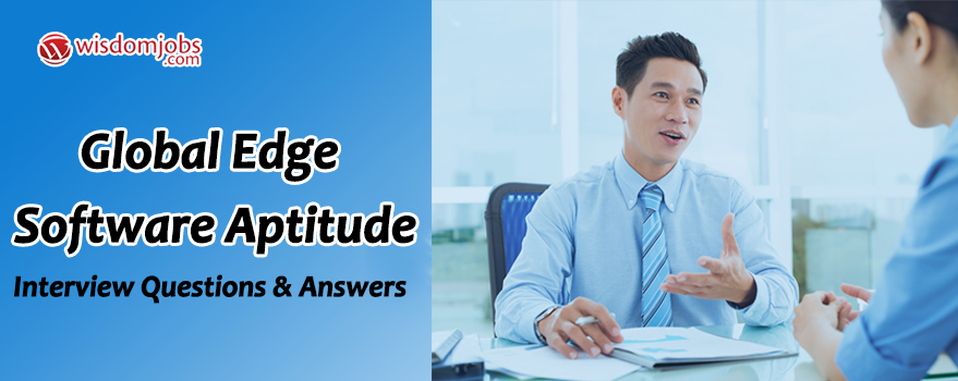 Global Edge Software Aptitude Interview Questions