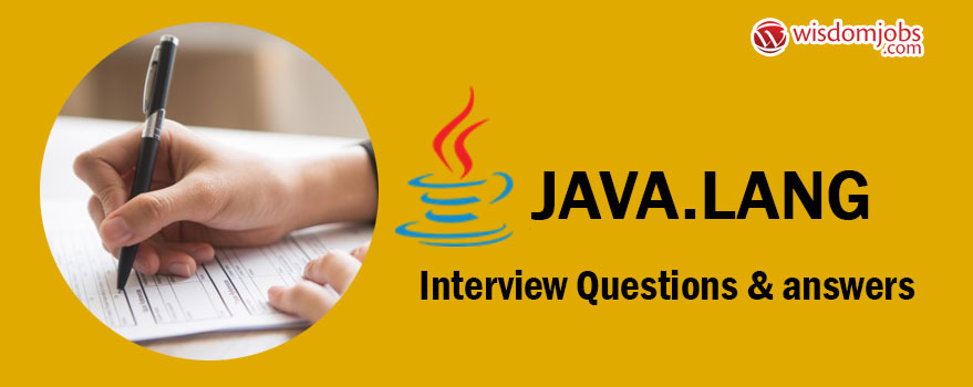 java.lang Interview Questions