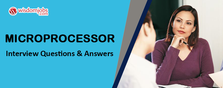 Microprocessor Interview Questions