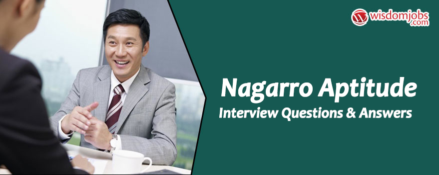 Nagarro Aptitude Interview Questions