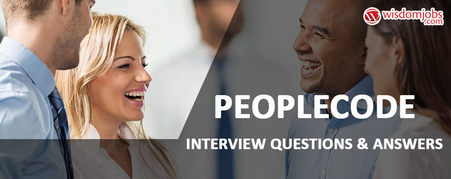 PeopleCode Interview Questions & Answers