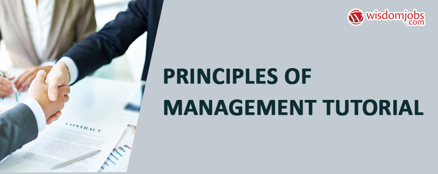 Principles of Management Tutorial