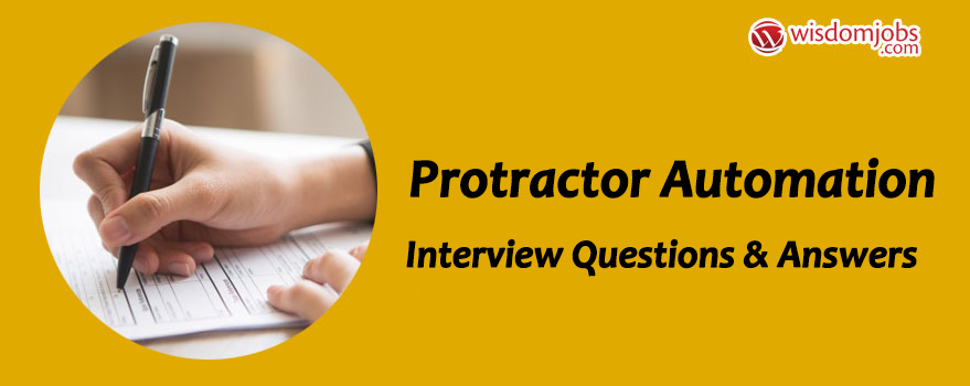 TOP 250+ Protractor Automation Interview Questions and Answers 13