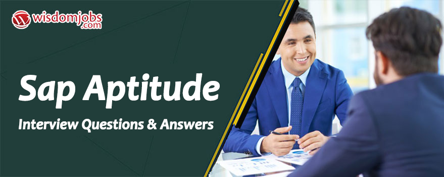 SAP Aptitude Interview Questions