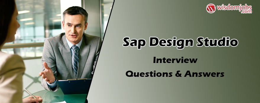 SAP Design studio Interview Questions & Answers