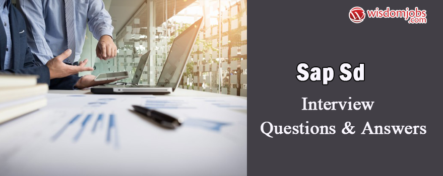 SAP SD Interview Questions & Answers