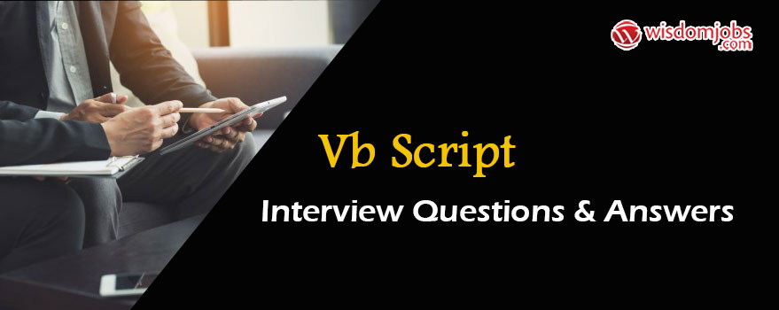 VB Script Interview Questions & Answers
