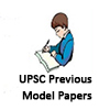 UPSC Previous Model Papers - PSC