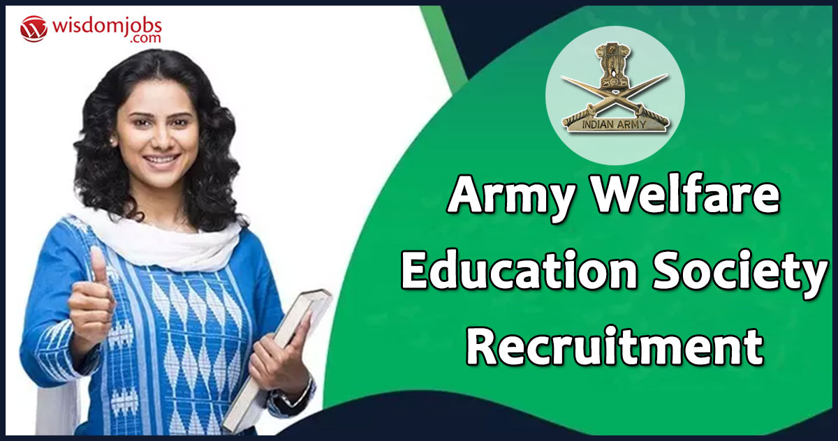 Army Welfare Education Society Recruitment 2020