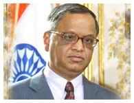Infosys Technologies Chairman N R Narayana Murthy. Photograph: Jack Guez/AFP/Getty Images