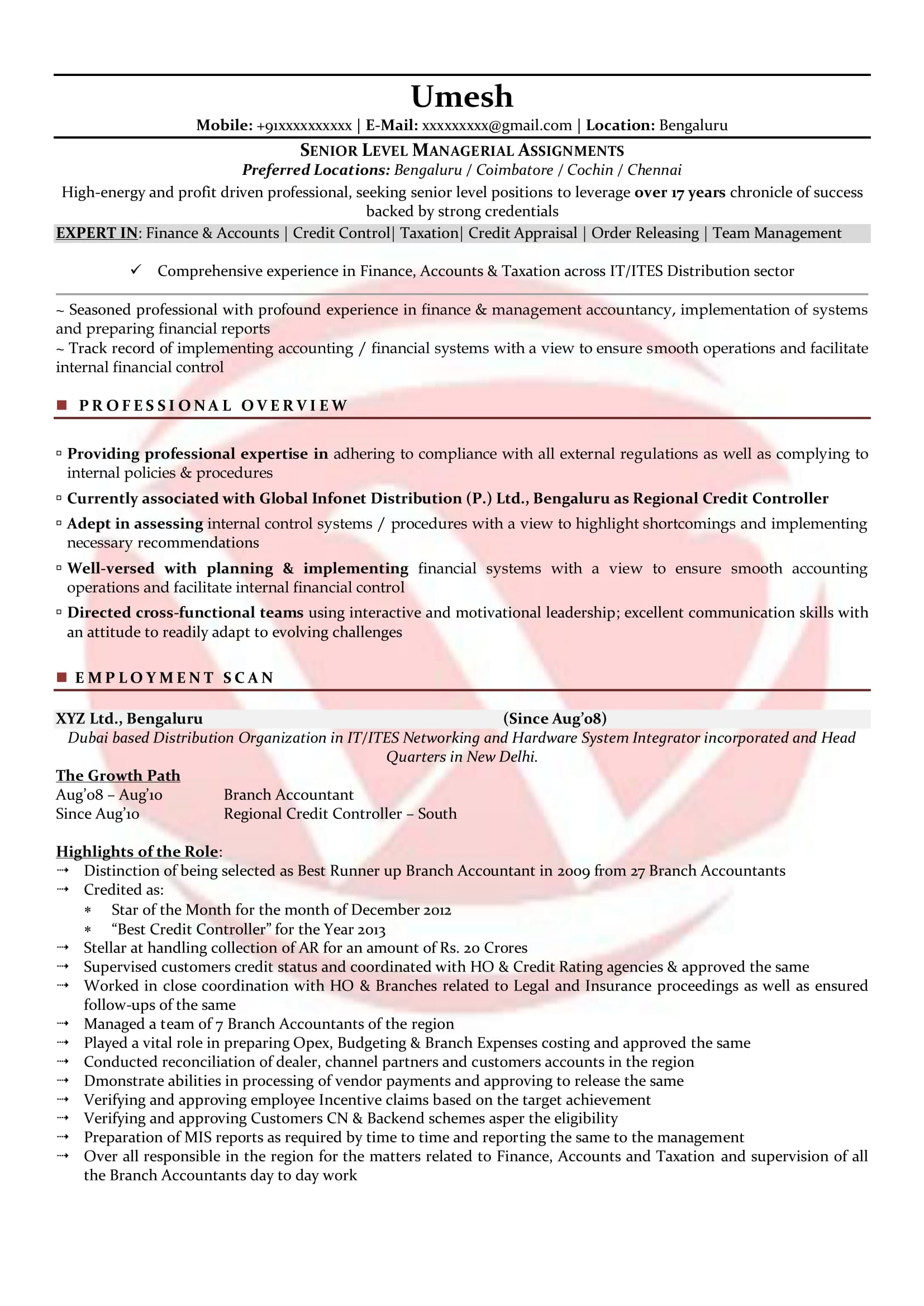 Accountant Sample Resumes Download Resume Format Templates