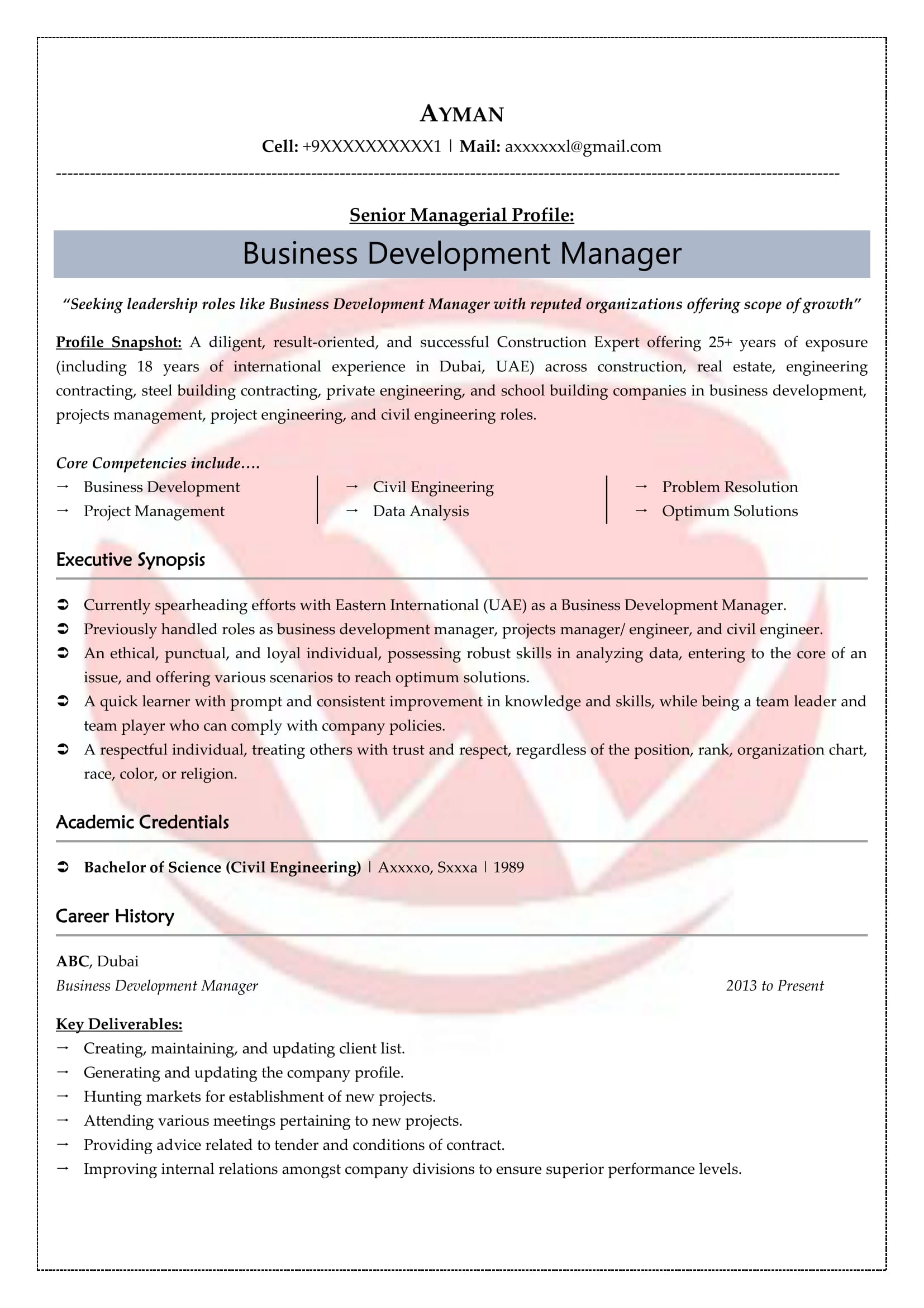 Corporate Sales Manager Sample Resume