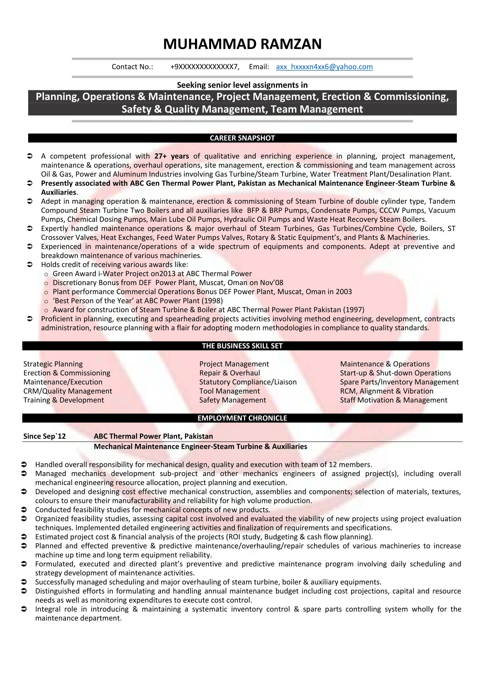 maintenance engineer resume india virtren com