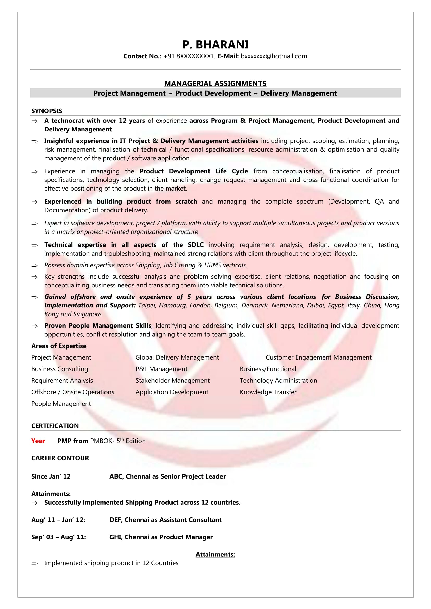 product manager sample resumes download resume format templates