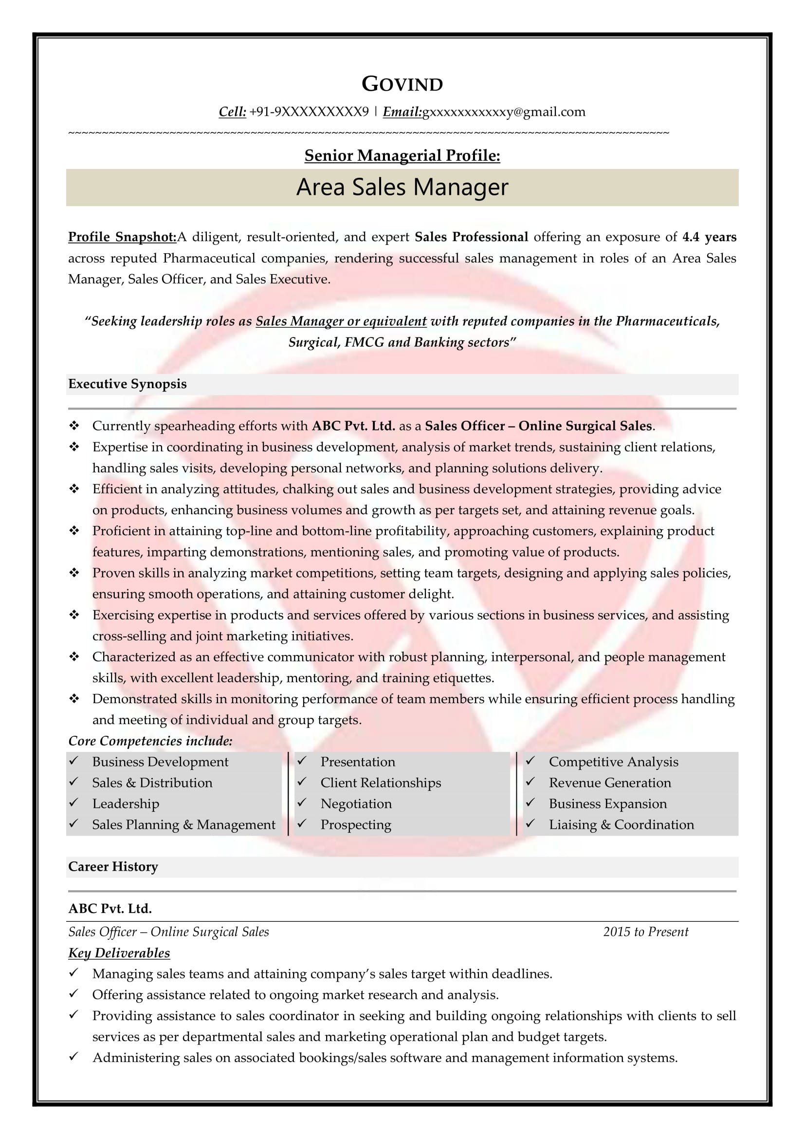 Sales Sample Resumes Download Resume Format Templates