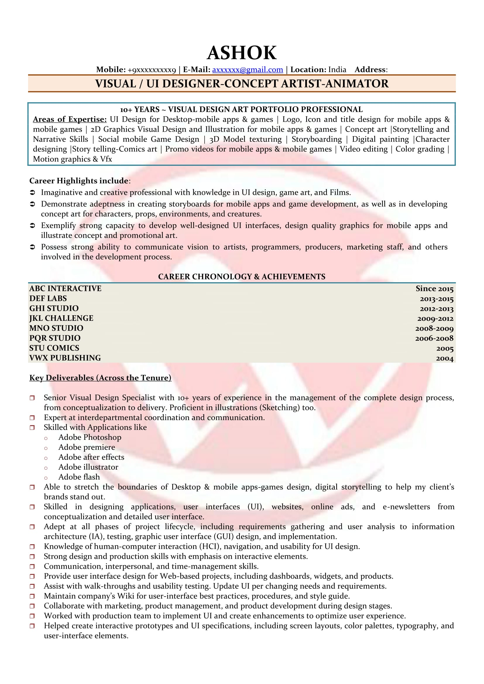 Ui Developer Sample Resumes Download Resume Format Templates