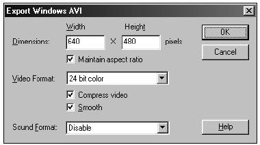 Adjust the values of the Windows AVI settings to accommodate your playback needs.