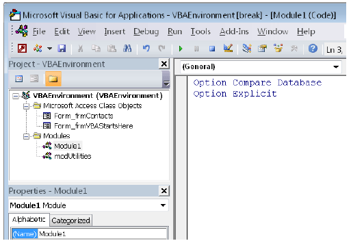 Creating Modules and Procedures in MS Access Tutorial 08