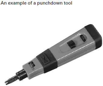an example of a punch down tool