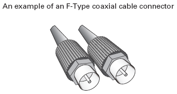 An example of an Ftype coaxial cable connector