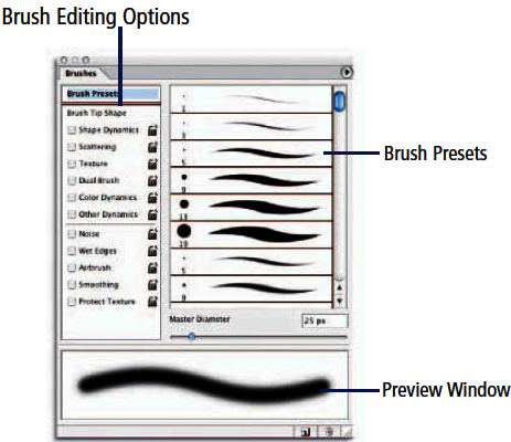 Brush ending options