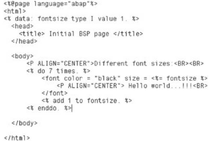 Web Development with ABAP: Business Server Page (BSP) in SAP