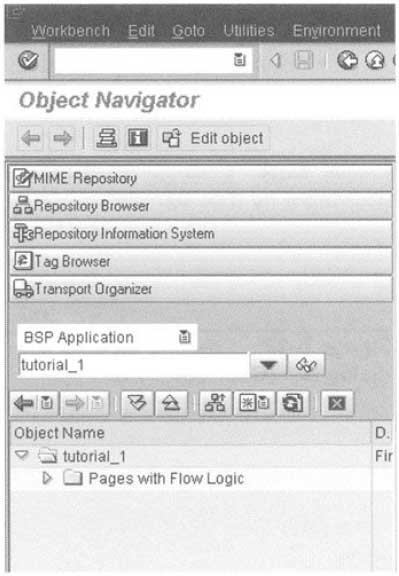 BSP option within the Object Navigator