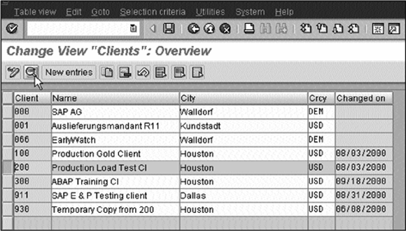 Change view clients overview