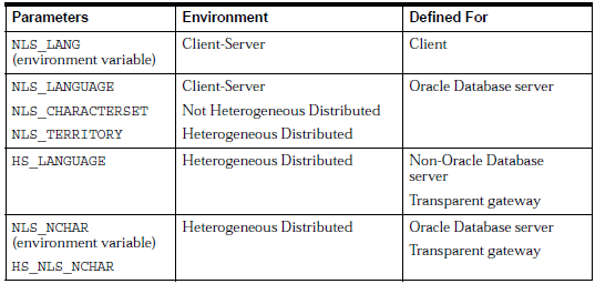 Character Set Support for Distributed Environments in Oracle 10g