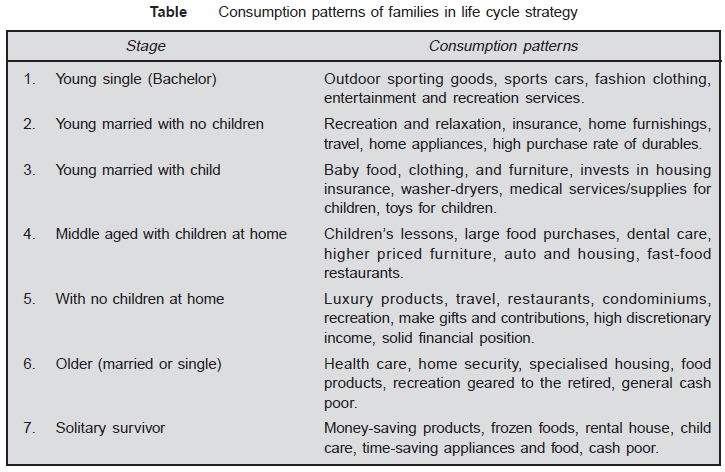 Consumption-patterns-of-families in life cycle strategy