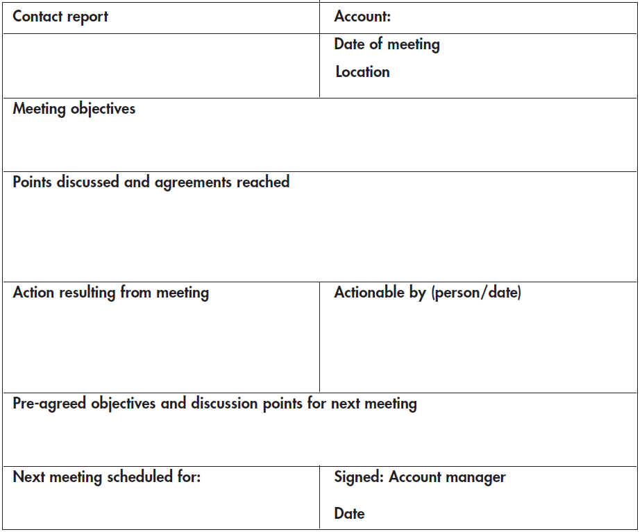 Contact-report-example-format
