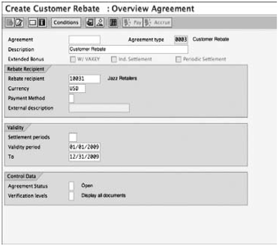 Creating a rebate agreement, overview
