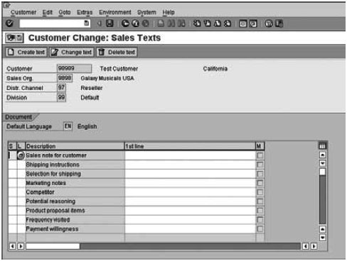 Astonishing Maintaining Text In Customer Master Records In Sap In Sap Sd Download Free Architecture Designs Grimeyleaguecom