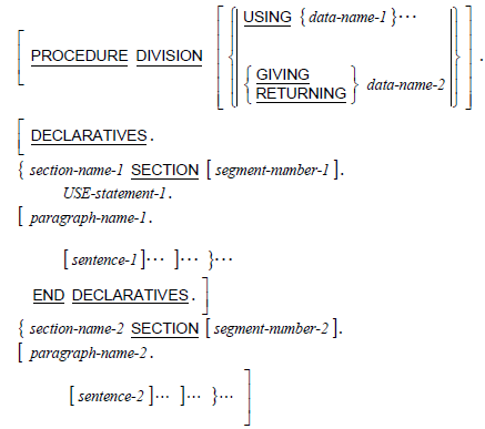 Declaratives or Sections